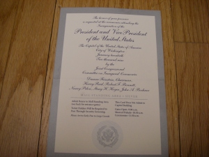 Silver Meaningless Inauguration Ticket, But Still Precious