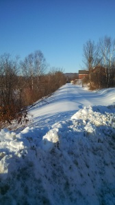 Snow covered railroad bed, Northumberland, NH