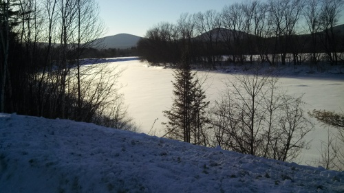 Connecticut River, looking northwest from NH to VT