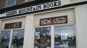 The Storefront of Green Mountain Books, Lyndonville, VT.