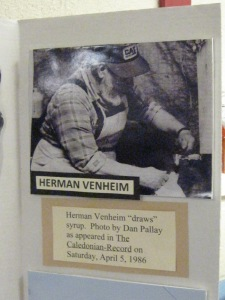 The late Herman Vennheim, sugaring in Lunenburg.