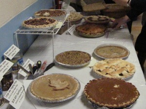 The pies and tarts in competition