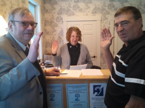 Allen Hodgdon, Valerie Foy, Calvin Colby, Essex County Courthouse, Guildhall, Vt
